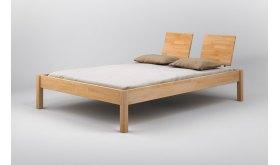 Drewniane łóżko z zagłówkiem Ruten