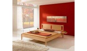 Drewniane łóżko do sypialni Poter