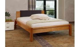 Łóżko z zagłówkiem tapicerowanym Harry