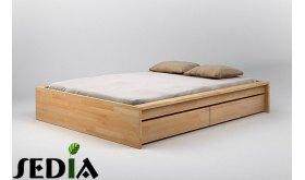 Łóżko bukowe z pojemnikiem Topaz