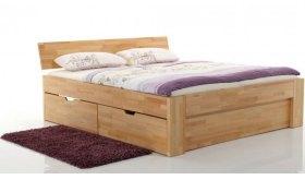 Łóżko drewniane z szufladami Pallad