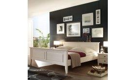 Białe łóżko do sypialni Horn
