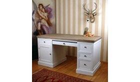 Białe biurko gabinetowe Solano