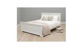 Białe łóżko drewniane Bonita