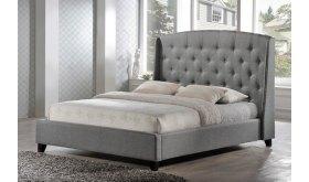 Łóżka tapicerowane z wysokim zagłówkiem Ernesto
