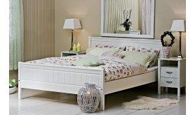 Klasyczne białe łóżko Combo