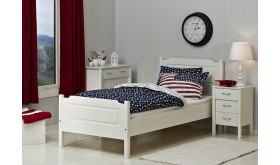 Biale łóżko sypialniane Volant