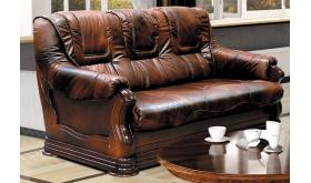 Stylizowana sofa ze skóry naturalnej - Palmer