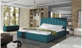 Łóżko z pikowanym wezgłowiem Rumba