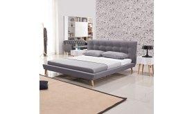 Łóżko tapicerowane w stylu skandynawskim Borys