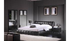 Łóżko tapicerowane ekoskóra Memory