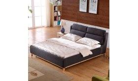 Łóżko z drewnianą podstawą Inter