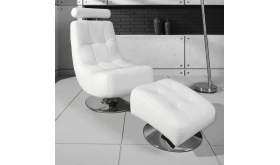 Fotel designerski Milano + pufa