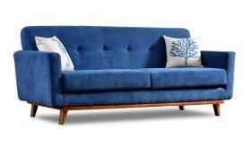 Niebieska sofa w stylu skandynawskim Diana