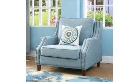 Fotel wypoczynkowy z ozdobnymi gwoździami Daria