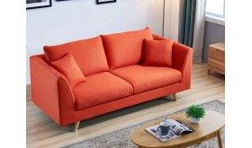 Pomarańczowa sofa do salonu Merano
