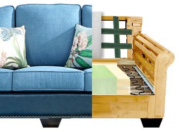 Sofa ze stelażem