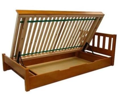 Łóżko sosnowe z pojemnikiem