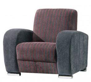 fotel z zaokrąglonymi bokami