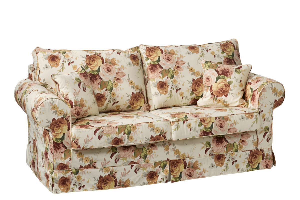sofa w kwiaty
